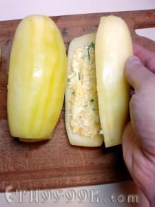 половинки кабачків з начинкою