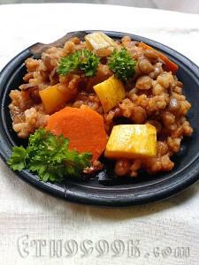 сочевиця з овочами