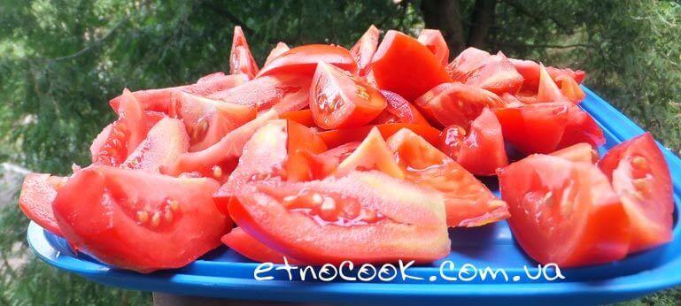 помідори шматочками