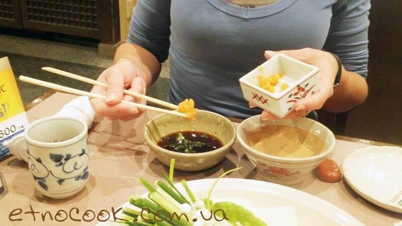 готуємо соуси для шябу-шябу