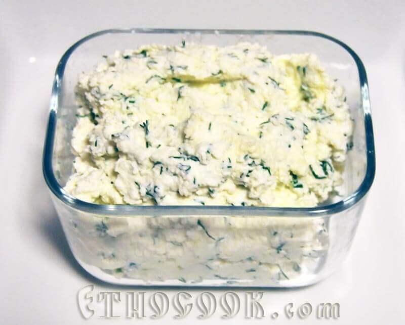 сир з зеленню