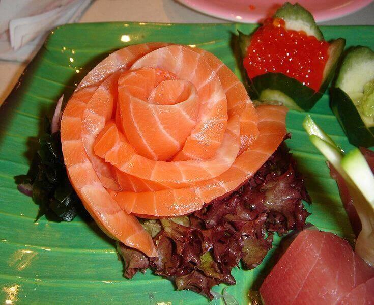 сашімі з лосося - диво дивне для японців