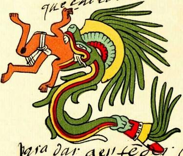 Зображення Кетцалькоатля (Кукулькана) - бога кукурудзи